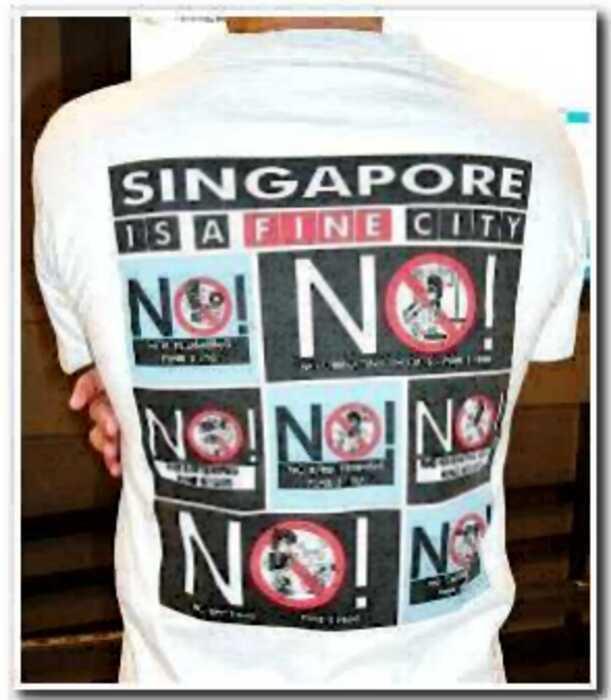 Американский турист плюнул на улице в Сингапуре и тут же получил огромный штраф