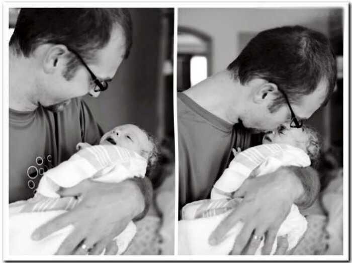 25 раз, когда отец увидел своего ребенка в первый раз