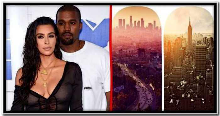Ким Кардашьян отказалась следовать за Канье Уэстом на другой конец США