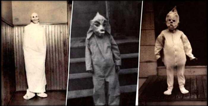 25 фотографий о том, как детки прошлого наряжались на Хэллоуин