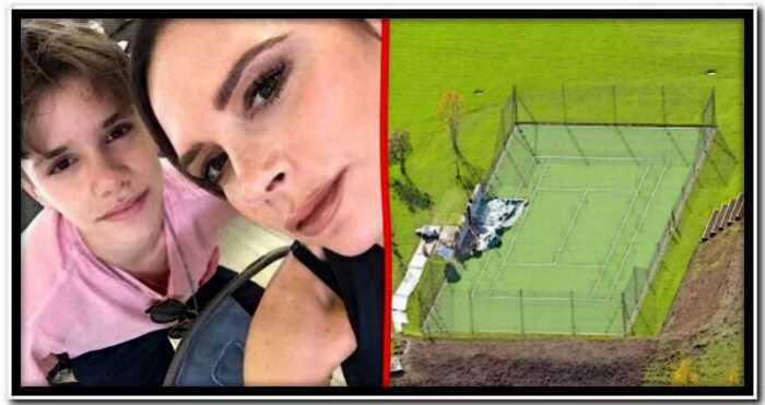 Дэвид и Виктория Бекхэм подарили сыну теннисный корт за 2,6 миллиона