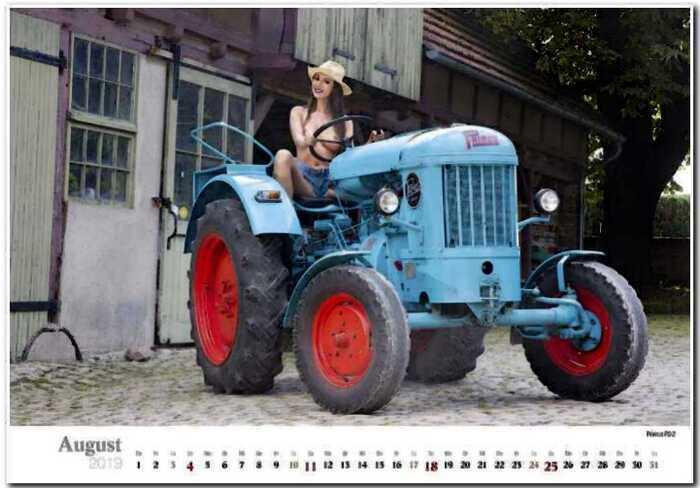 Горячий календарь с молодыми фермершами