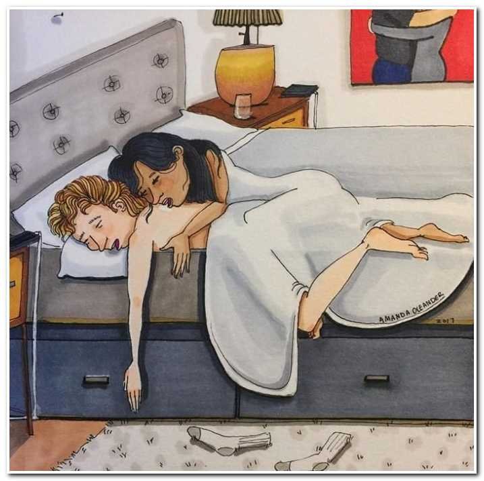 15 честных и веселых иллюстраций о том, как выглядит «повседневная любовь»