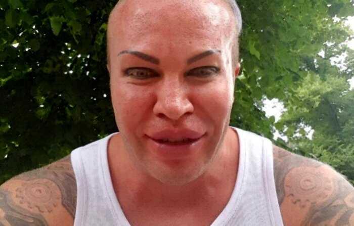 Эпатажный бодибилдер Александр Шпак поделился фото, как он выглядел до трансформации