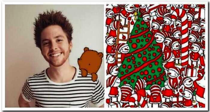 Венгерский художник нарисовал Рождественскую головоломку и интернет сошел с ума