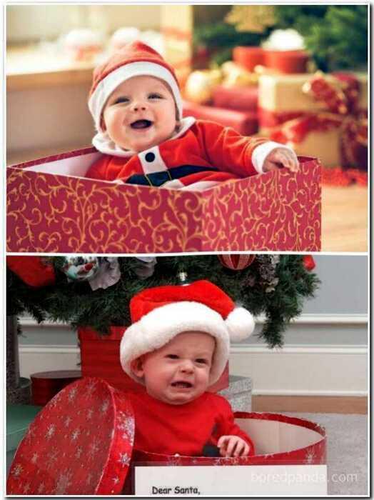 Новогодние фотосессия с ребенком: ожидания и реальность