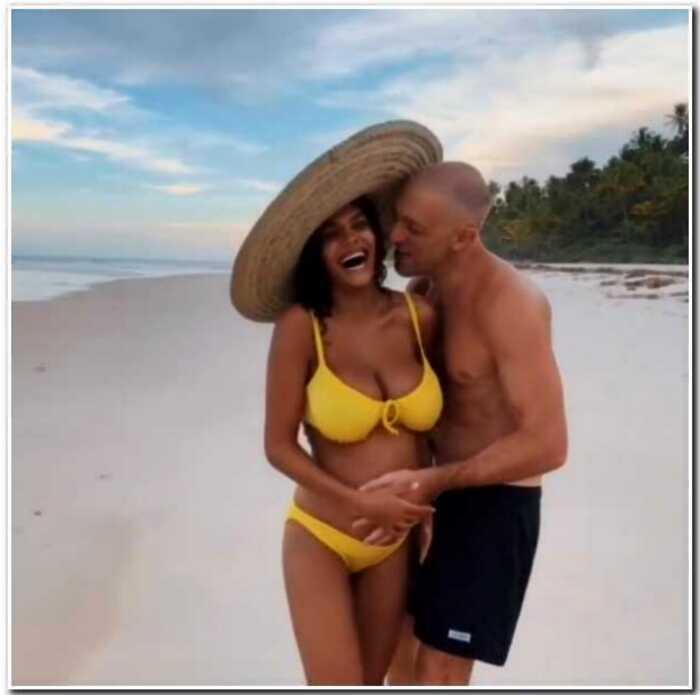 52-летний Венсан Кассель выгулял 21-летнюю беременную жену по пляжу