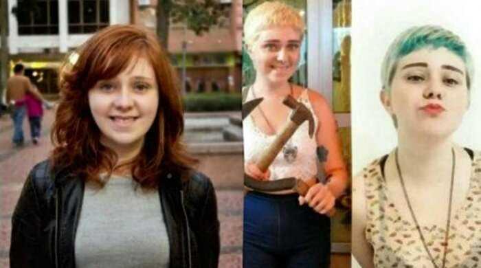 """Фото девушек, которые стали феминистками: """"до и после"""""""