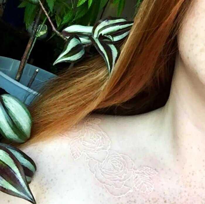 25 волшебных татуировок, которые докажут, что белый цвет — это круто