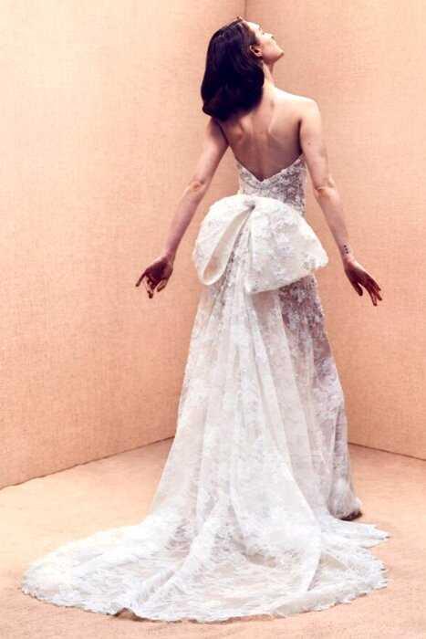 14 роскошных свадебных образов из новой коллекции Oscar de la Renta весна-лето 2020