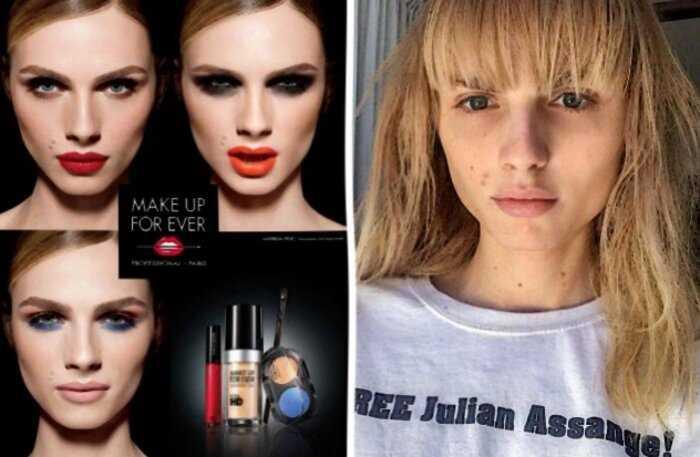22 фото о том, как звездные красавицы выглядят с макияжем и без