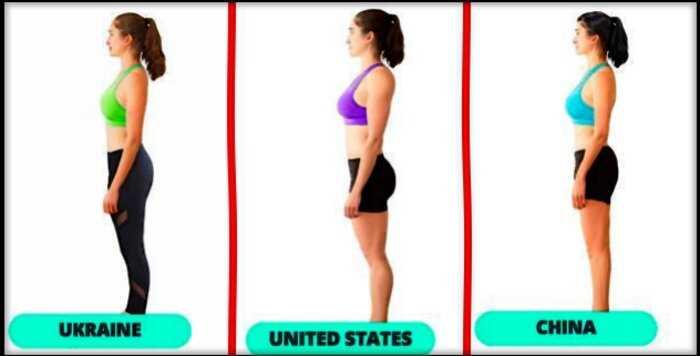 «Инфографика красоты»: как выглядит идеальное женское тело в разных странах мира