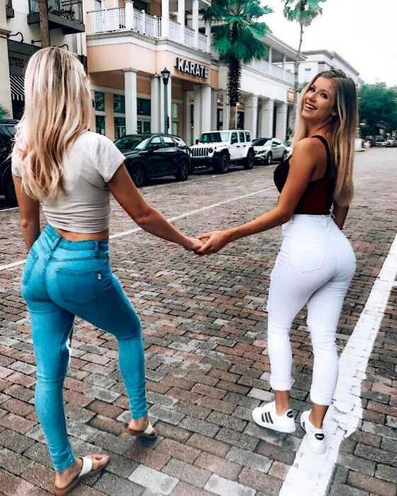 Девушки в обтягивающих джинсах и шортах 20.06.2019