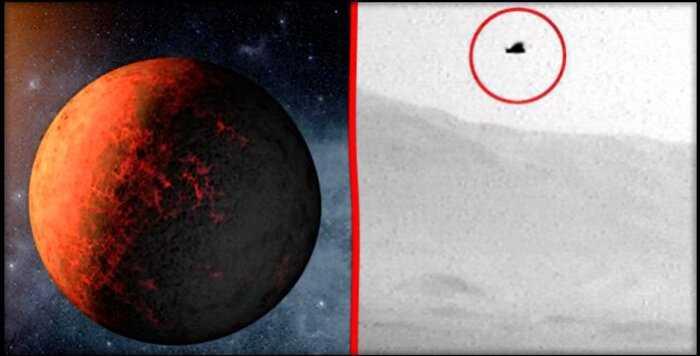 Исследователь нашёл на Марсе странный летающий объект, напоминающий птицу