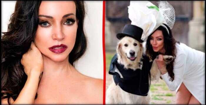 Британская модель вышла замуж за пса после 220-ти неудачных свиданий с мужчинами
