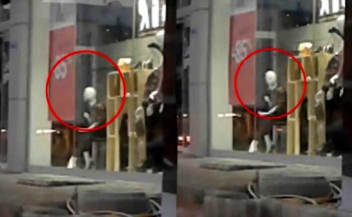 Видео, на котором манекен поворачивает голову, ужаснуло сеть