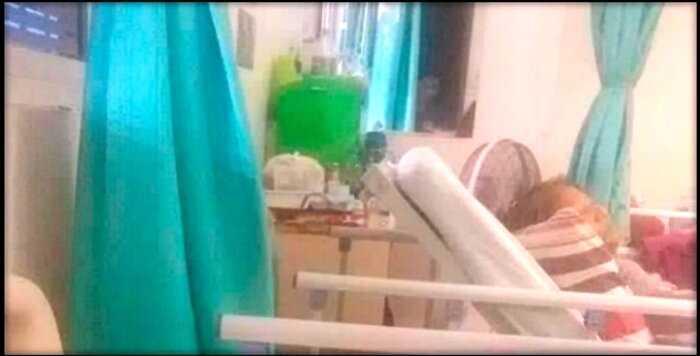 В больнице засняли пугающее лицо, смотрящее в окно палаты. Это было на 5-м этаже