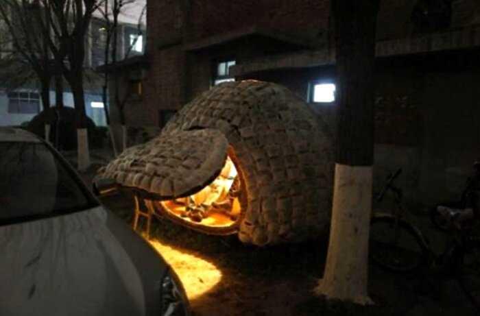Экономный китаец построил дом-яйцо, чтобы не снимать квартиру