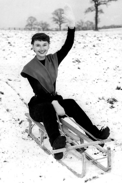 Ретро-зима: 20 зимних снимков знаменитостей ХХ века