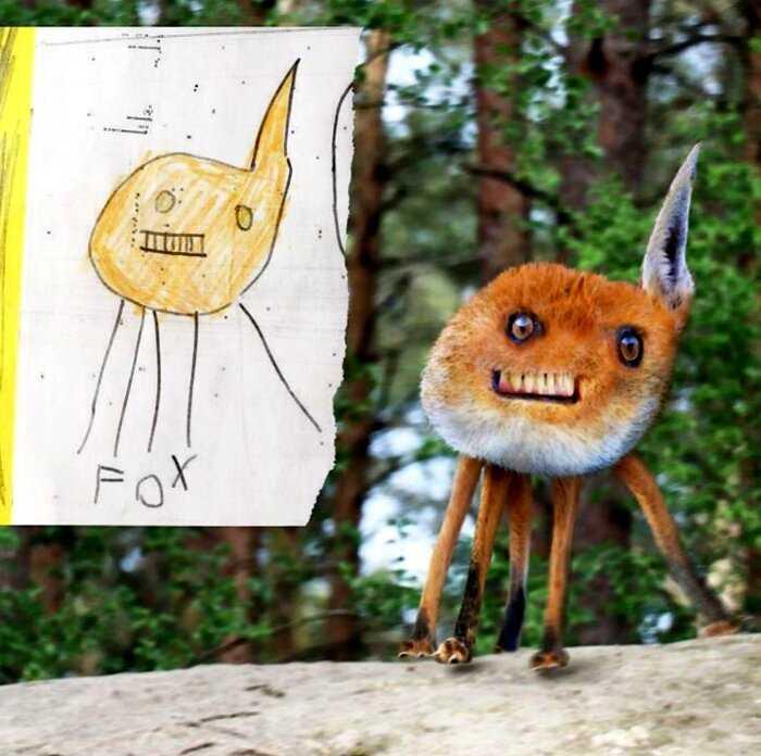 Мужчина «воскресил» существ, которых нарисовали детки — и это нечто!