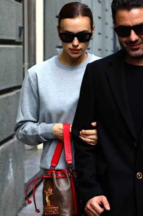 «С кольцом и любовником»: папарацци засняли Ирину Шейк в Милане