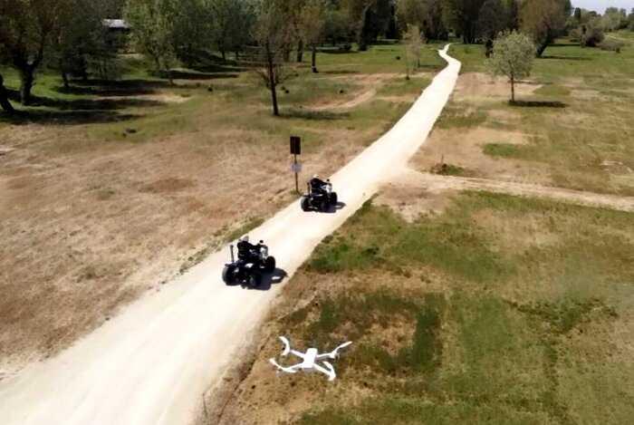 Итальянские полицейские выискивают нарушителей карантина с помощью дрона
