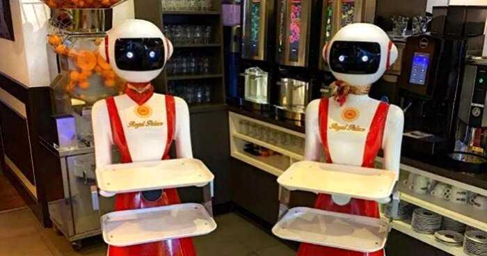 До чего дошел прогресс: в Нидерландах роботы стали работать официантами