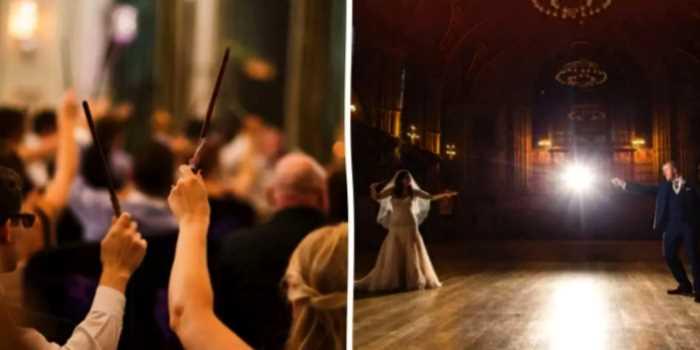 «Волшебная любовь»: Пара из Британии устроила свадебную церемонию в стиле романов о Гарри Поттере