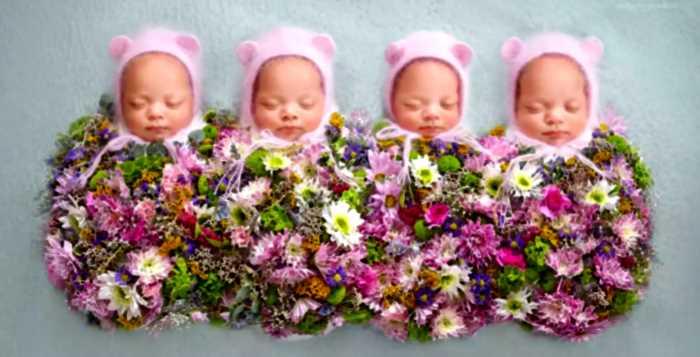 Женщина забеременела четверней после усыновления четверых детей