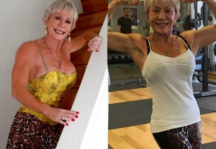 Бабушка наплевала на возраст и усердно тренируется в зале уже 58 лет, вызывая зависть у молодых