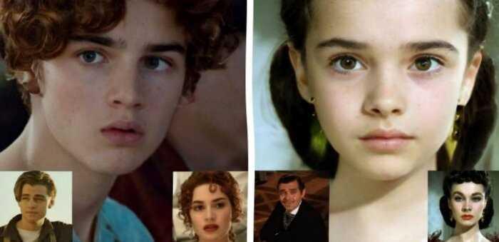 Нейросеть показала как выгдядели бы дети известных пар из фильмов