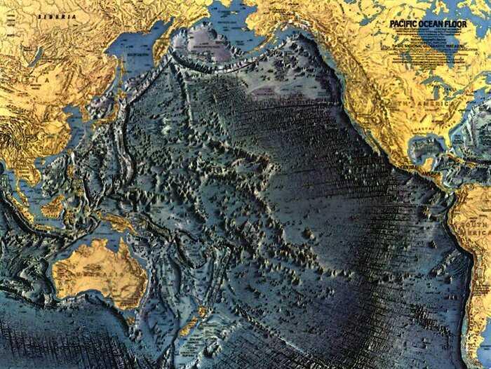 Как выглядит рельеф дна Мирового океана: 5 завораживающих карт