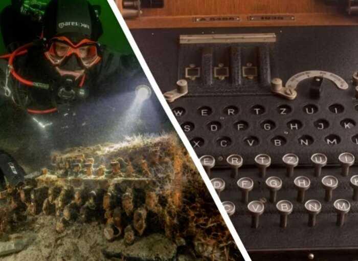 На дне Балтийского моря нашли редкую шифровальную машину нацистов, которую всеми силам старались уничтожить