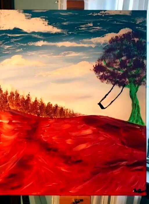 Девушка-дальтоник нарисовала пейзаж, каким она его видит и теперь каждый хочет посмотреть на мир ее глазами