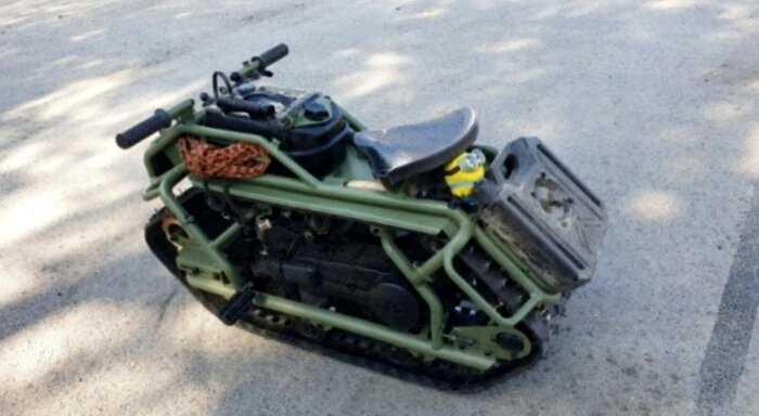 Самодельный гусеничный мотовездеход из России удивил британских журналистов