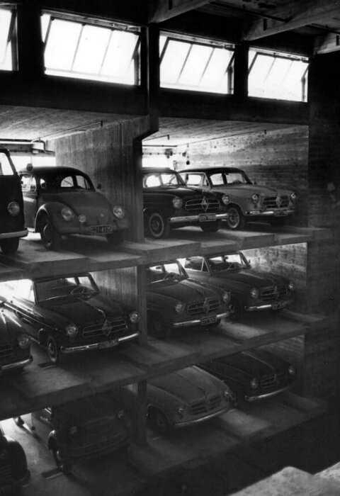 Как выглядели первые вертикальные парковки, 1920-1960 годы